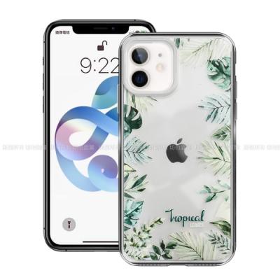 MOOTUN for iPhone 12 mini 5.4吋 防護晶透保護殼 - Tropical綠葉