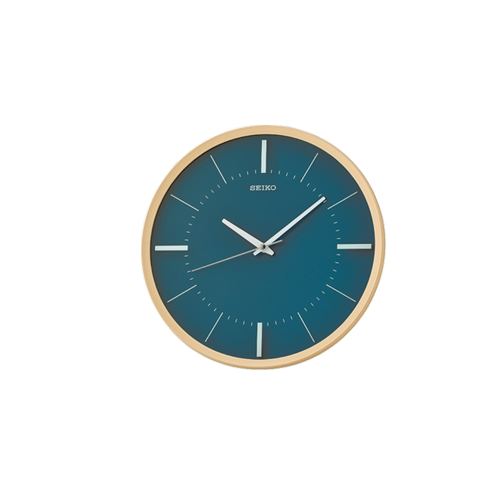 SEIKO 日本精工 滑動式秒針 靜音掛鐘(QXA731Y)-卡其木紋外框/31.2cm