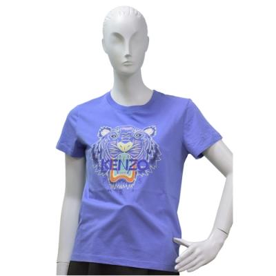 KENZO 老虎標誌印花短袖圓領衫(薰衣草紫)