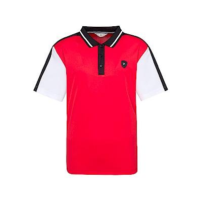 FILA 男款吸濕排汗短袖POLO衫-紅色 1POT-1475-RD