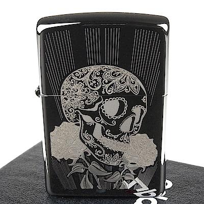 ZIPPO 美系~Fancy Skull-花俏骷髏圖案設計打火機