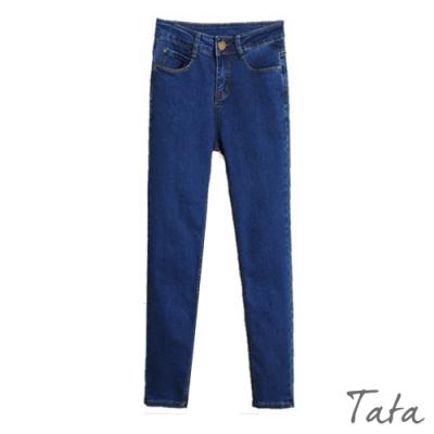 雙口袋窄管牛仔褲 TATA-(S~XL)