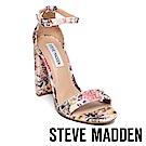 STEVE MADDEN-CARRSON 一字踝帶粗高跟涼鞋-花草紫