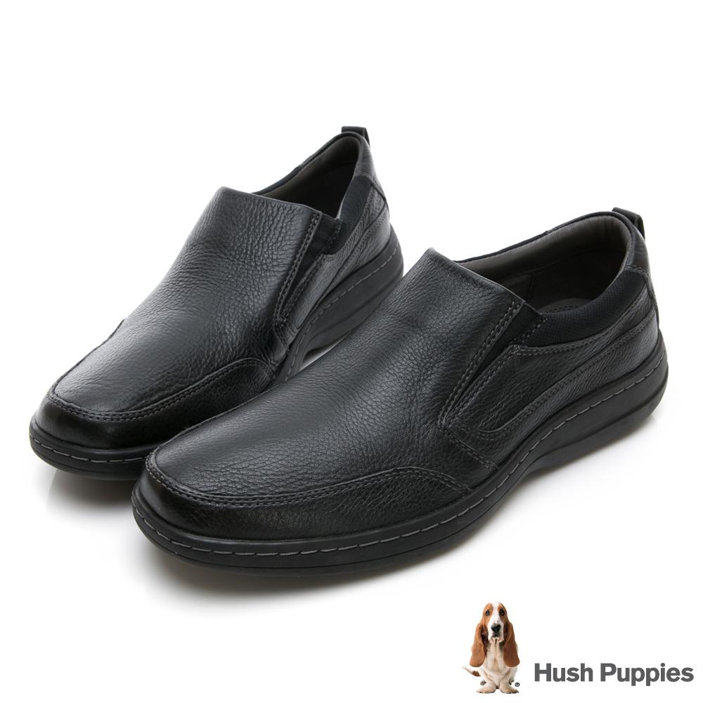 Hush Puppies ELKHOUND 超彈力直套式休閒鞋-黑