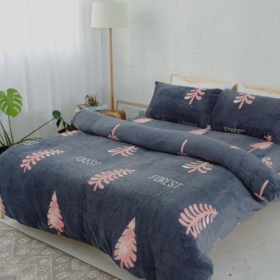 BUHO 極柔暖法蘭絨雙人加大床包三件組(月佇謐林)