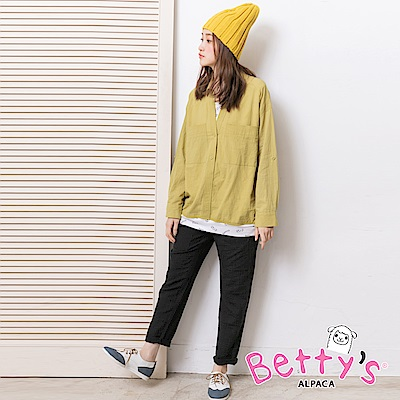betty's貝蒂思 鬆緊多口袋休閒長褲(黑色)