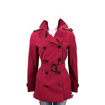 BURBERRY THE KENSINGTON 短版風衣(紅色)