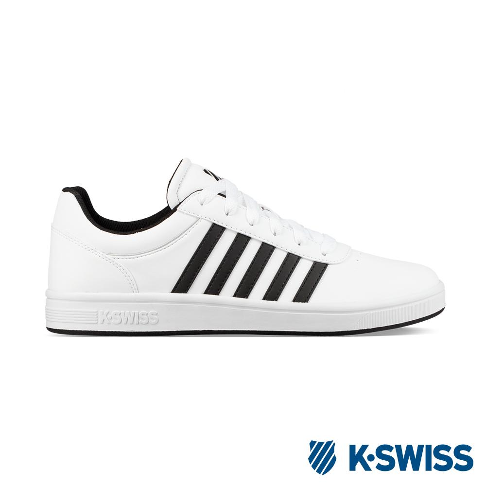 K-SWISS Court Cheswick S休閒運動鞋-男-白/黑