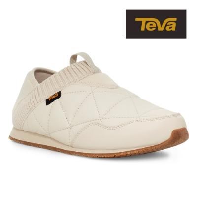【TEVA】原廠貨 女 Ember Moc 防潑水菠蘿麵包鞋/休閒鞋/懶人鞋(樺木白-TV1018225BIR)