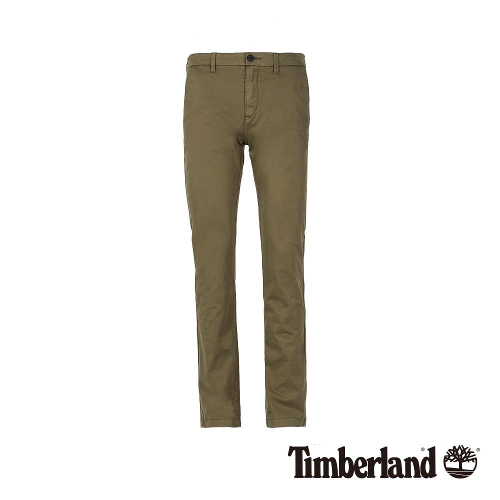Timberland 男款橄欖綠彈力修身卡其褲 A1V6Y