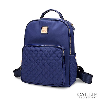 CALLIE 威尼斯系列 菱格紋尼龍後背包 Mirano 藍