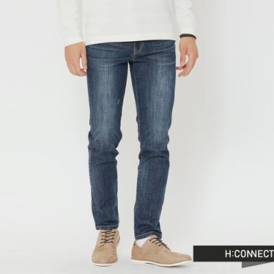 H:CONNECT 韓國品牌 男裝-水洗刷色牛仔長褲-藍(快)