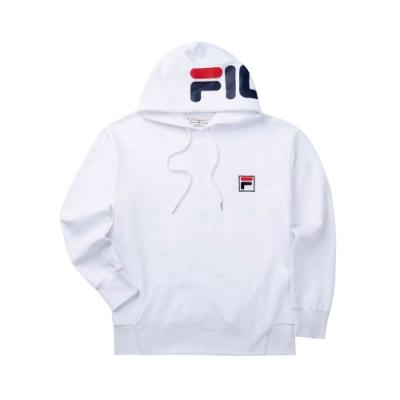 FILA #LINEA ITALIA 長袖連帽T恤-白 1TET-5409-WT