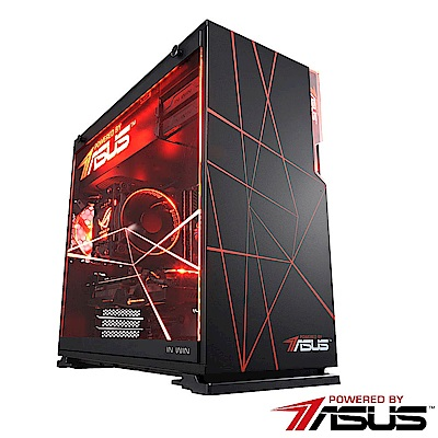 POWERED BY ASUS【魔焰行星】i7六核GTX1050TI獨顯SSD電玩機