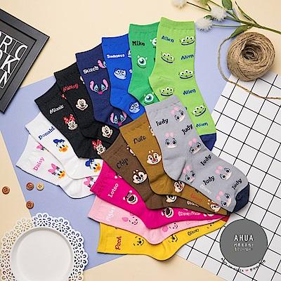 阿華有事嗎 韓國襪子 迪士尼笑瞇瞇中筒襪 韓妞必備卡通襪 正韓百搭純棉襪
