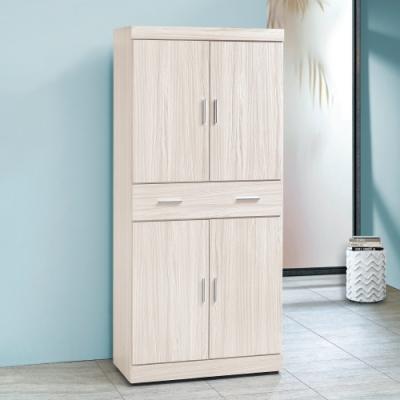 Bernice-白梣木2.6x6尺耐磨鞋櫃-80x39x182cm