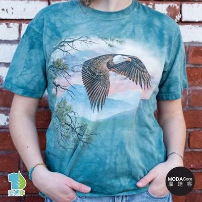 【摩達客】(3XL)美國進口The Mountain 雄偉展翅鷹 純棉環保短袖T恤