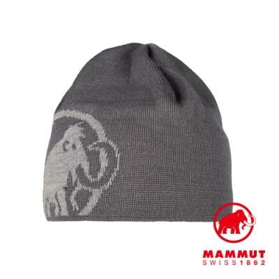 【Mammut 長毛象】Tweak Beanie 保暖針織LOGO羊毛帽 鈦金灰/花崗岩灰 #1191-01352