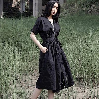 設計所在Style-薄版和服短袖中長版洋裝