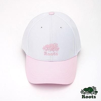Roots配件- 海狸雙色棒球帽-白