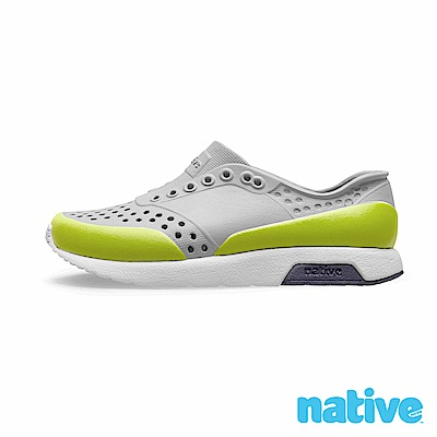 native 小童鞋 LENNOX 小雷諾鞋-鴿子灰 x 螢光綠