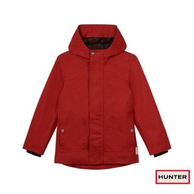HUNTER - 大童-棉質連帽外套 - 軍紅色