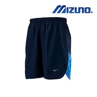MIZUNO 路跑短褲 靛藍X藍格 J2TB905213