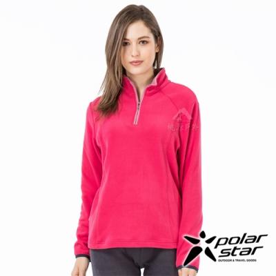 PolarStar 女 高領拉鍊保暖衣『桃紅』P19208