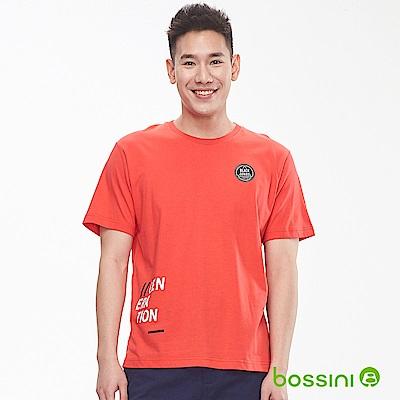 bossini男裝-圓領短袖上衣01橘紅