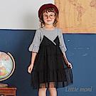 Little moni 假兩件網紗拼接洋裝(2色可選)
