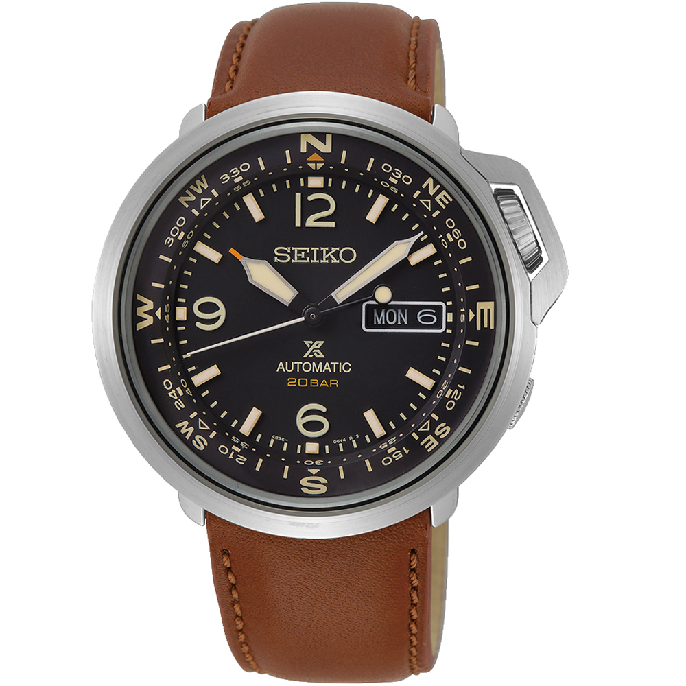 SEIKO精工PROSPEX復古時尚機械錶(SRPD31J1)-咖啡
