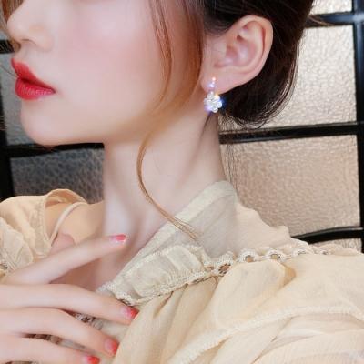 梨花HaNA 韓國925銀針細緻迷你珍珠小花球耳環