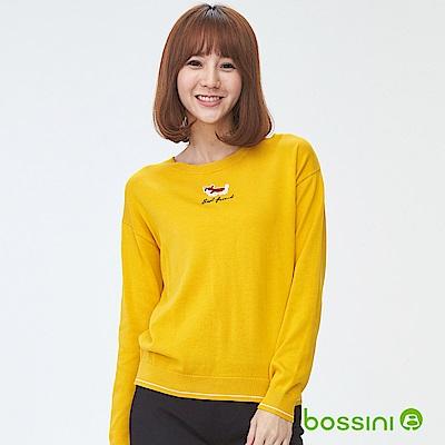 bossini女裝-圓領針織線衫03黃