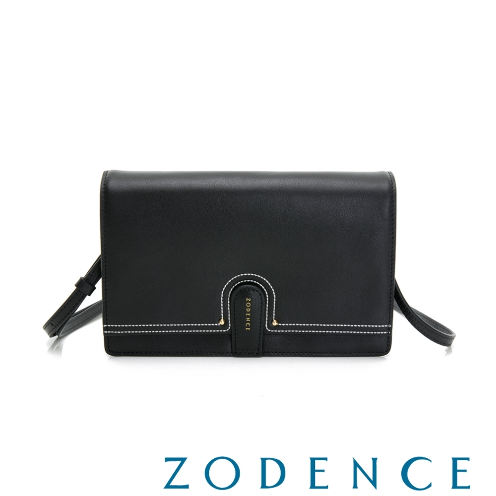 ZODENCE LIS進口牛皮斜背小包 黑 product image 1