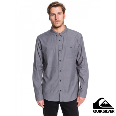 【QUIKSILVER】WATERFALL LS REGULAR 襯衫 黑灰