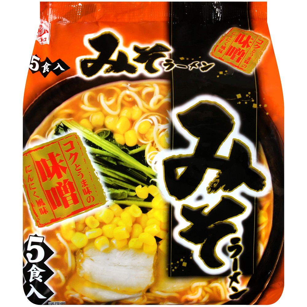 Higashimaru 丸東5入包麵-味噌風味(390.5g)
