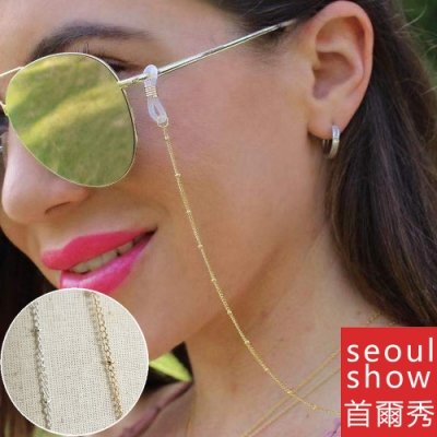 seoul show首爾秀 簡約夾珠口罩掛繩鍊眼鏡鍊老花眼鏡防丟鍊