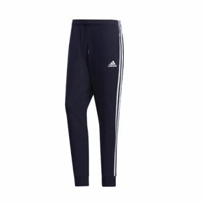 adidas 長褲 ESS Sports Pants 男款 愛迪達 三線 運動休閒 口袋 穿搭 藍 白 GK0622