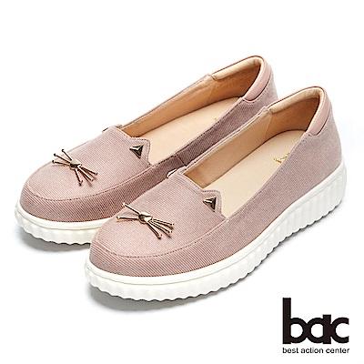 【bac】街頭運動 - 減齡俏皮小貓平底休閒鞋
