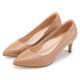 ORIN 典雅氣質 簡約素面羊皮尖頭高跟鞋-淺棕 product thumbnail 1