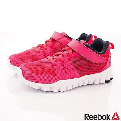 Reebok頂級童鞋 輕量機能避震運動款 FI006桃(中小童段)