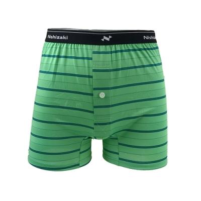 【Nishizaki 西崎】MIT男吸濕排汗透氣平口內褲(綠色)