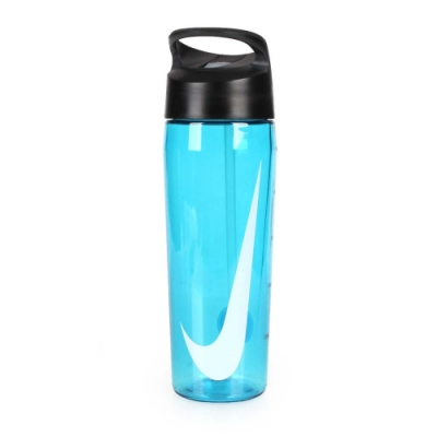 NIKE 24Z 吸管水壺 透明藍白