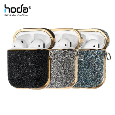 hoda Apple AirPods 1/2 電鍍鑽布保護殼 奢華系列