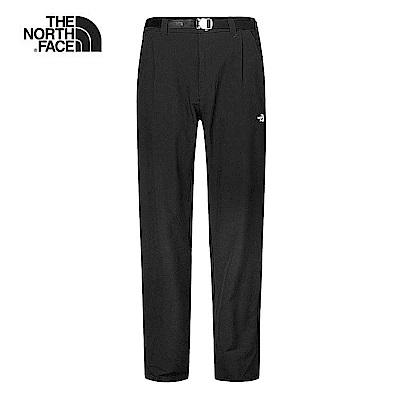 The North Face北面男款黑色防潑水休閒長褲|3V3VJK3