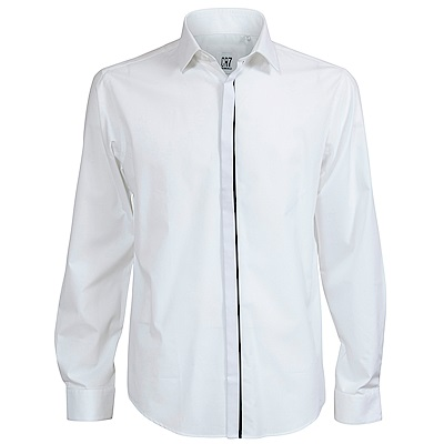 CR7-隱藏式鈕扣襯衫-白(8720-72000-1)