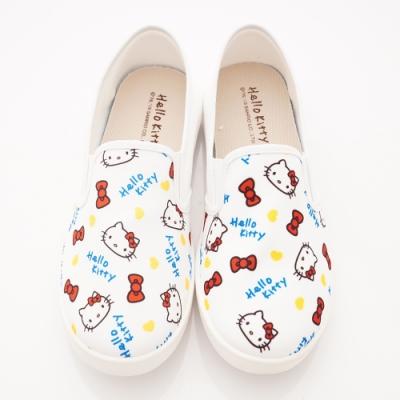 HelloKitty童鞋 印花休閒鞋款 SE19875白(中大童段)