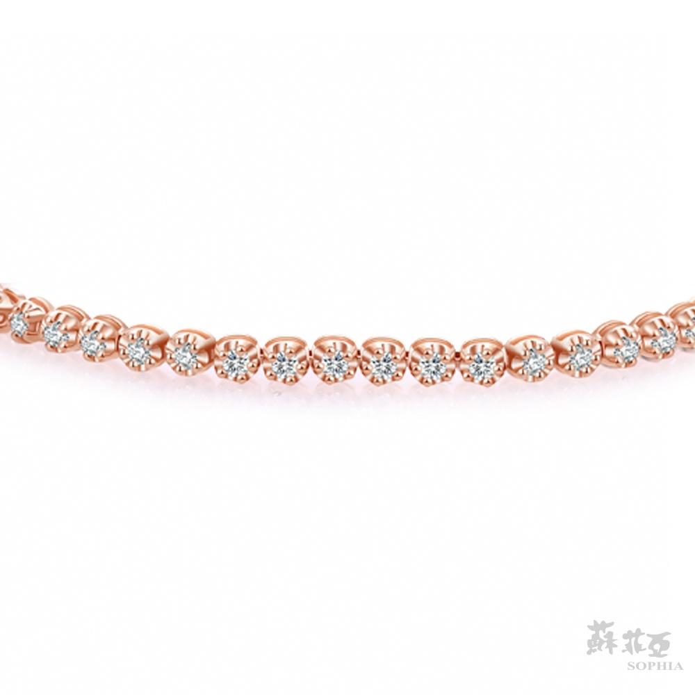 SOPHIA 蘇菲亞珠寶 - 星河 14K玫瑰金 鑽石手鍊