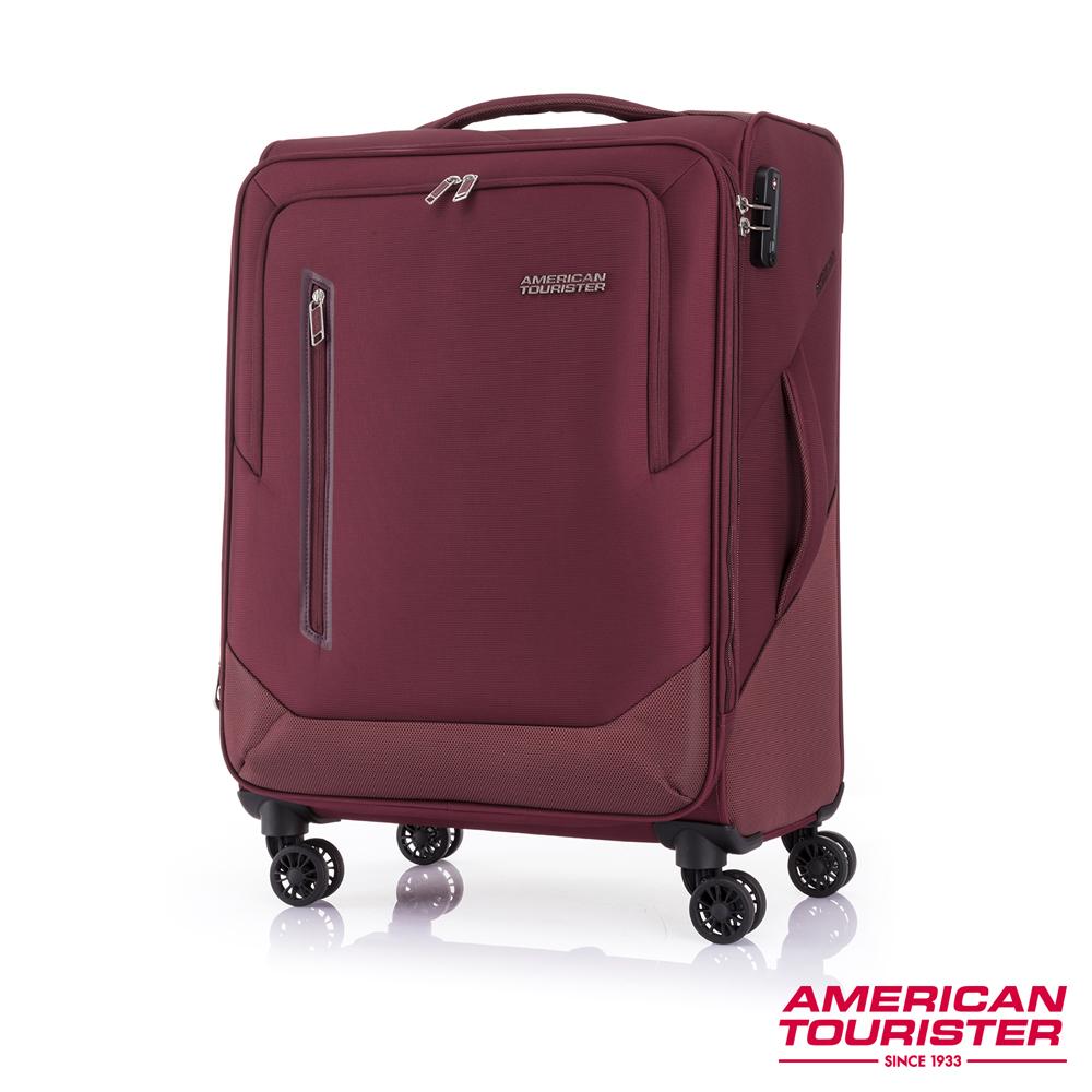AT美國旅行者 24吋Kirby 可擴充大容量雙輪布面登機箱(紅)