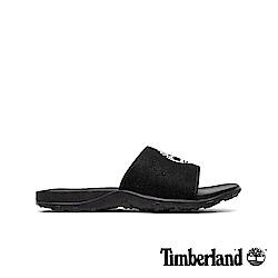 Timberland 男款黑色大樹LOGO拖鞋|A1XBN